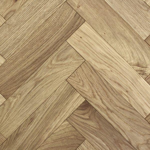 Natura Satin Oiled Oak Herringbone Flooring