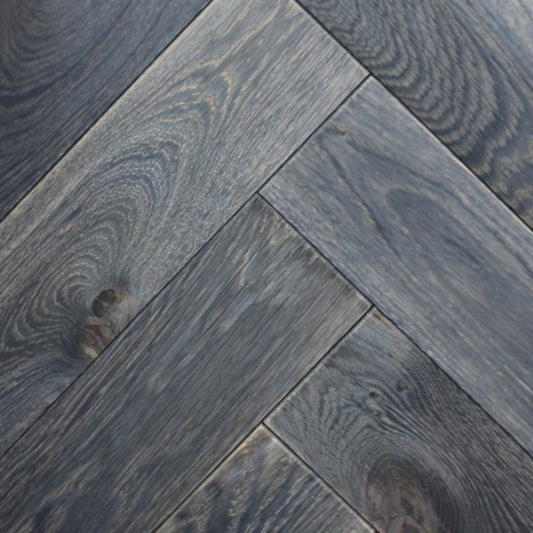 Bergen Vintage Hand Sanded Black Oiled Oak Flooring