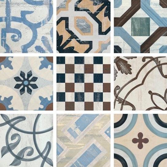 Bayonne Mix Vintage patterned Porcelain Tiles