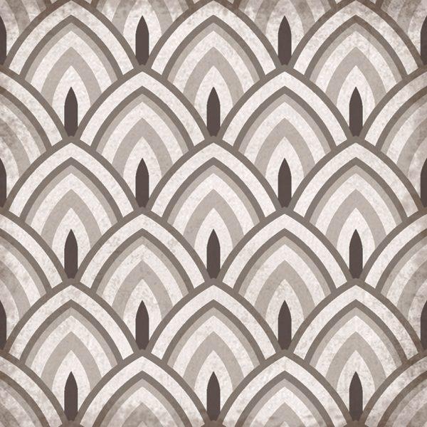 Cadiz Poppy, Moroccan Statment Porcelain Tile For Utility Floor