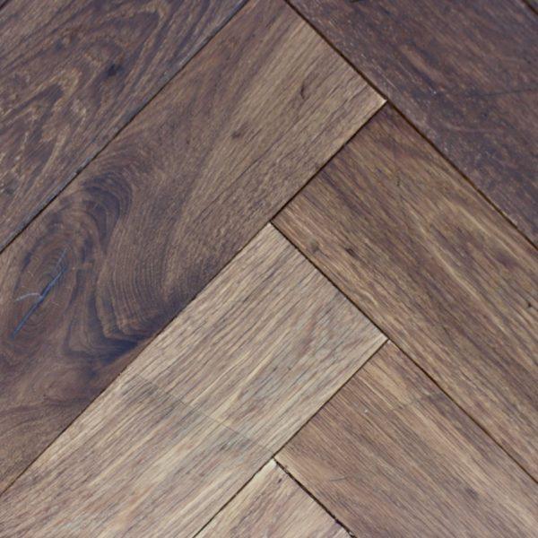 Lokeren Aged Vintage Brown Oak Herringbone Flooring
