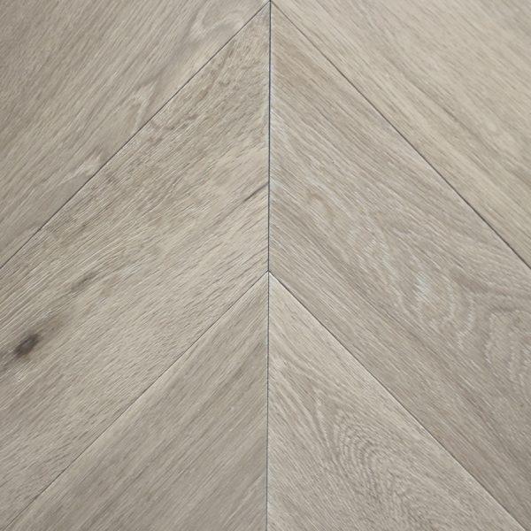 Koki Natural Oiled Brushed Oak Chevron Flooring