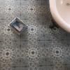 Laureat Burst Circular patterned Porcelain Tile Bathroom Floor