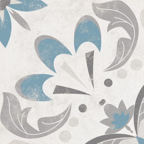 Laureat Summer Turquoise Patterned Porcelain Tile