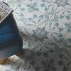 Laureat Summer Turquoise Flora Patterned Porcelain Tile