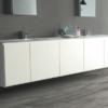 Embla Grey Wood Effect Bathroom floor tile