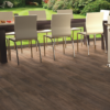 Embla Brown Wood Effect Tile in dining/family room