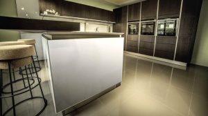 Modern Kitchen With Tiled Floor