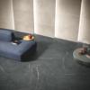 Apulia Black & Apulia white stone effect porcelain tile