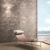Apulia Ivory floor tile and Apulia coffee feature wall tile