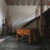 Cast Coal, Antiqued Metal Effect Porcelain Tile Warehouse Conversion