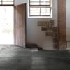 Cast Coal, Antiqued Metal Effect Porcelain Tile Warehouse Conversion Entrance hall.