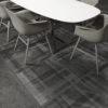 Gotham Deco Black Dining Room Floor Tile