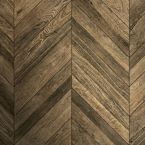 Schervage Natural Oak Effect Chevron Tile