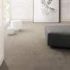 Concreta Dark Grey Concrete Effect Tiles With White Wall