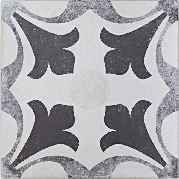 Domme Moss Vintage Grey Patterned Porcelain Tile
