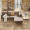 Earth Clay Stone Effect Tumbled Living Room Floor Tiles