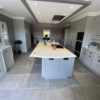 Kitchen with Chambord Grey Limestone Effect Porcelein Floor Times