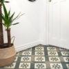 Maroc Forest Green Encaustic Hallway Floor Tiles