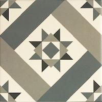 Maroc Forest Green Encaustic Style Patterned Porcelain Tile