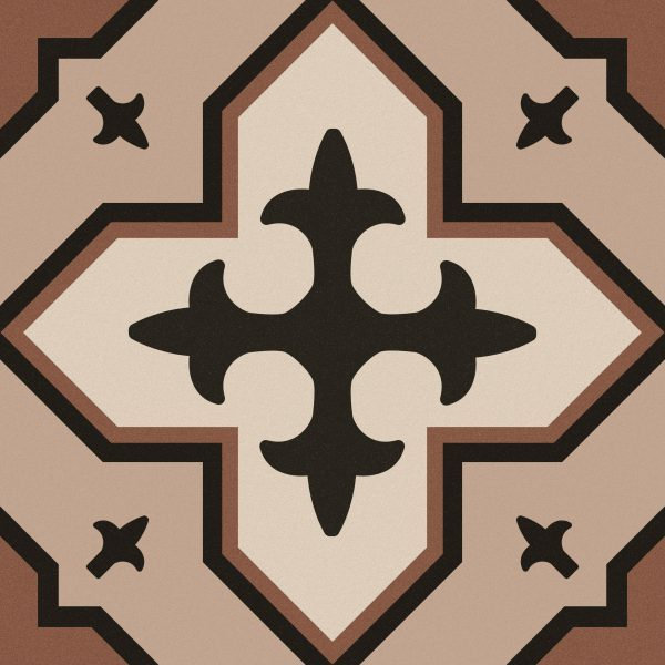 Maroc Tan Encaustic Style Patterned Porcelain Tile