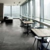 Maurienne Anthracite Black Quartzite Restaurant Floor Tiles