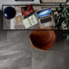 Maurienne Anthracite Black Stone Effect Office Floor Tiles