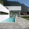 Maurienne Grey 19mm Quartzite Stone Effect Porcelain Tiled Swimming Pool Surround