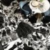 Noire Antique Polished Marble Effect Porcelain Floor Tile