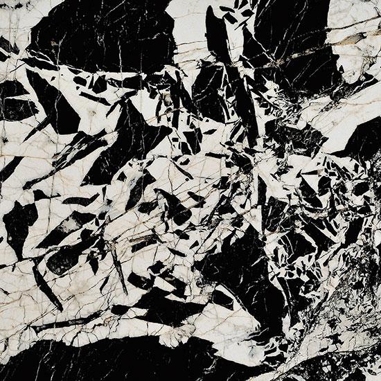 Noire Black & White Antique Marble Effect Porcelain Tile