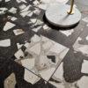 Monza Graphite Black Terrazzo Deco Floor Tile