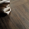 Schervage Dark Wood Effect Herringbone Flooring tile