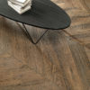 Schervage Natural Brown Chevron Wood Effect Tile