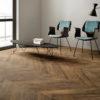 Schervage Natural Oak Chevron Floor tile