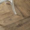 Schervage Natural Wood Effect Herringbone floor tile