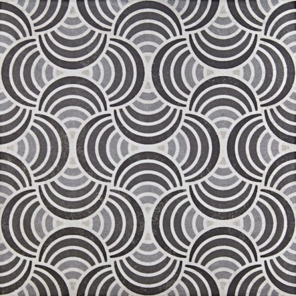 Cadiz Swirl Moroccan Style Patterned Vintage Porcelain Tile