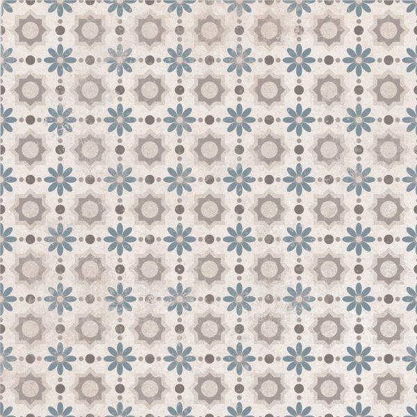 Laureat Flower Patterned Encaustic Style Porcelain Tile