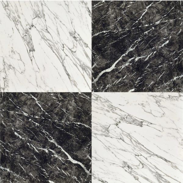 Prominence Grigio Carnico Black White Marble Effect Porcelain Tile