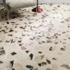 Monza Cream Terrazzo Floor Tile in living room