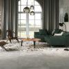 Monza Grey Cement and Terrazzo Living Room Floor Tiles